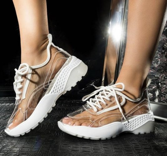 SNEAK AGENDA CLEAR PVC SNEAKERS